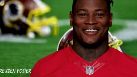 Linebacker Reuben Foster of the Washington Redskins Suffers Season Ending ACL Tear at Practice