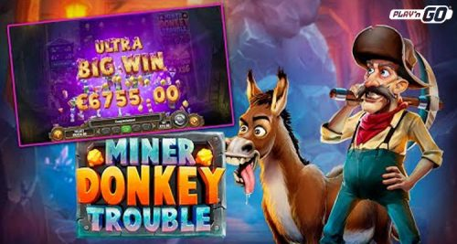 Play'n GO adds to diverse portfolio with latest video slot Miner Donkey Trouble