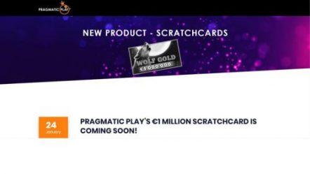 Pragmatic Play set to launch new €1 million scratchcard