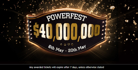 Partypoker's biggest every POWERFEST set for this May