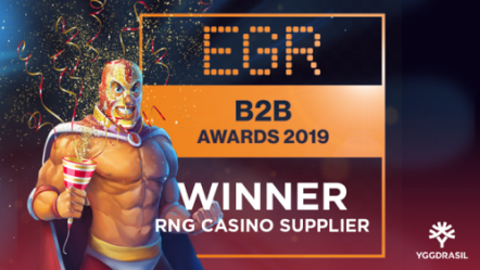 "Yggdrasil ""thrilled"" with EGR B2B Awards 2019 success; named RNG Casino Supplier of the year"