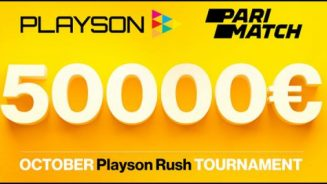 Parimatch.com running October Playson Rush Tournament