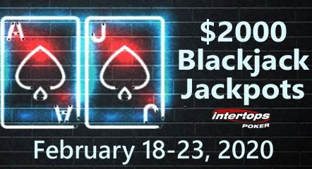 Intertops Poker hosting $2000 in Blackjack Bonuses during special Blackjack Jackpots Week