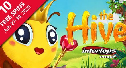 Betsoft's The Hive launches at Intertops Poker with special spins offer