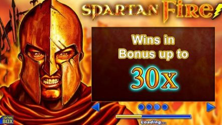 Prepare for battle in the new Spartan Fire slot game by Lightning Box