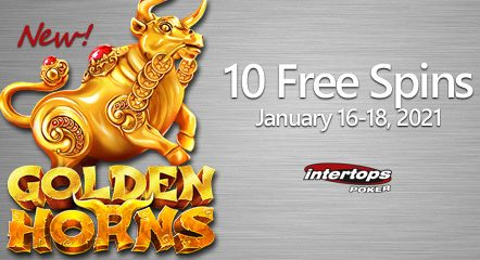 Celebrate the Year of the Ox at Intertops Poker with extra spins on the new Betsoft slot Golden Horns