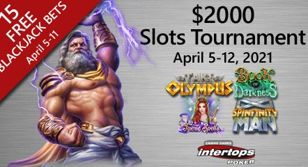Intertops Poker featuring new online slot tournament this week